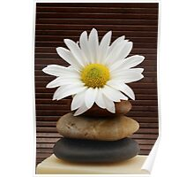 Zen Spa Daisy Meditation Tower Poster