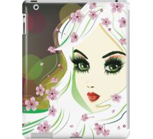 Floral Girl with White Hair iPad Case/Skin