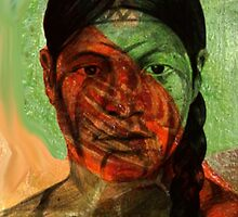 My interpretation of a Borrado Indian woman from Nuevo Leon, Mexico by Jorge H. Elias