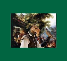 Airedale Terrier Art - Village Dance with Falconer T-Shirt