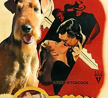 Airedale Terrier Art Canvas Print - Notorious Movie Poster by NobilityDogs