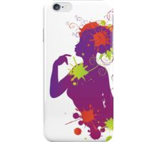 Female silhouette with swirls iPhone Case/Skin