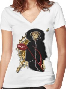 Silence Women's Fitted V-Neck T-Shirt