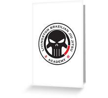 Livingston Brazilian Jiu Jitsu Academy Badge Greeting Card