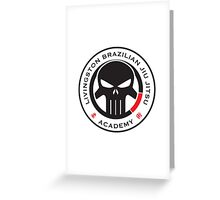 Livingston Brazilian Jiu Jitsu Academy Badge Greeting Card