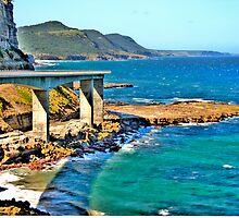 Sea Cliff Bridge -  Grand Pacific Drive - The HDR Experience by Philip Johnson