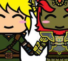 Link & Ganondorf Sticker