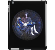 Earth Pietà (Michelangelo) Through Notre Dame Stained Glass Rosette. iPad Case/Skin