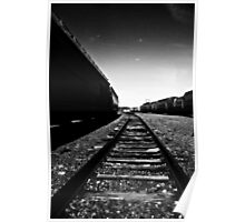 looking down the tracks Poster