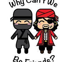 Ninja & Pirate by JRoxDesign