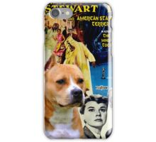 American Staffordshire Terrier Art Canvas Print - The Man Who Knew Too Much  Movie Poster iPhone Case/Skin