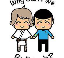 Luke Skywalker & Spock by JRoxDesign