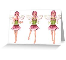 Floral Fairy 3 Greeting Card