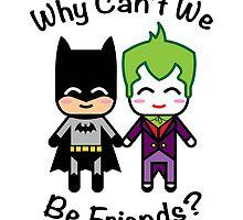 Batman & Joker by JRoxDesign