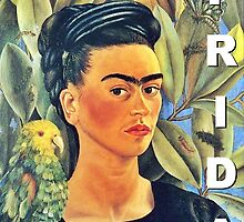 Frida Kahlo Self-Portrait with Bonito  by SleepingMuse