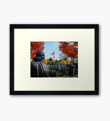 Korean War Memorial Framed Print