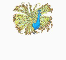 Whimsical Peacock Womens Fitted T-Shirt