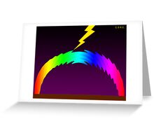 C O R E (Colours Of Rainbow Electrocuted) Greeting Card