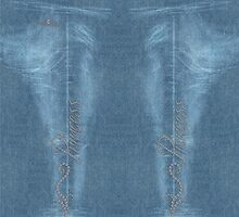 Diamond Princess Faded Denim Jeans by andabelart