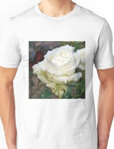 White Rose in the Garden 14 Unisex T-Shirt