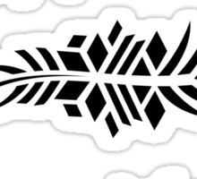 Feathers - black on white Sticker