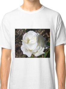 Close up of white rose 18 Classic T-Shirt