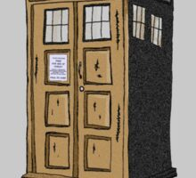 Police Box In Sepia Sticker