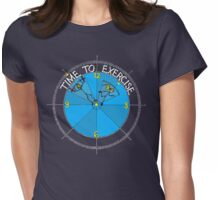 Time To Exercise 2 Womens Fitted T-Shirt