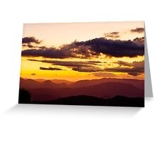Valles del Tuy Sunset 2 Greeting Card