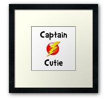 Captain Cutie Framed Print