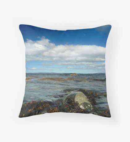 Looking out from Port Mor, Gigha Throw Pillow