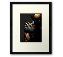 dark wolverine Framed Print