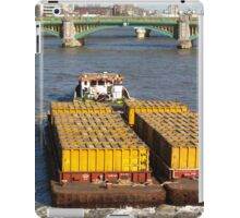 Load-pulling barge, River Thames iPad Case/Skin
