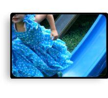 Blue Dress Blue Slide Canvas Print