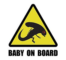 Alien Baby On Board by TheBestStore