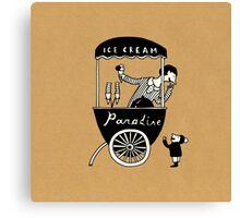 "Ice Cream ""Paradise"" Canvas Print"