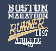 The Boston Marathon, t-shirt design by PaulMalyugin