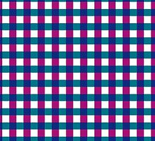 Pink and Blue Gingham by giraffoarts