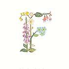 Botanical Letter F by dgarden