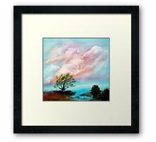 Water Front Sunset Framed Print