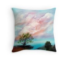Water Front Sunset Throw Pillow