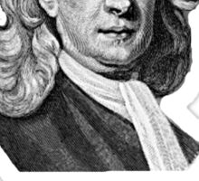 Sir Isaac Newton Apple Sticker