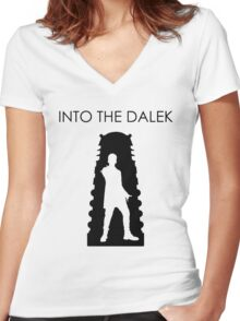 Into the Dalek Women's Fitted V-Neck T-Shirt