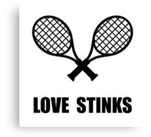 Tennis Love Stinks Canvas Print