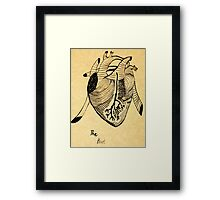 The Heart- unfiltered  Framed Print