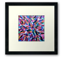 Colliding Color Creates Framed Print