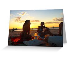 Cable Beach chat Greeting Card