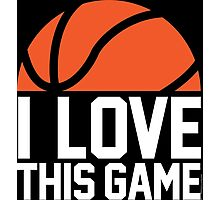 I Love This Game Photographic Print