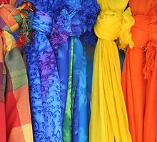 Colorful Fabrics by Larissa Brea