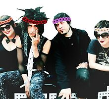 Mindless Self Indulgence - Flower Crown Group by Quinn Baker
